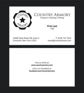 Country Armory Business Cards