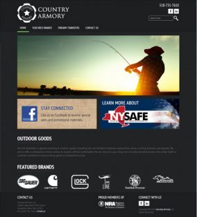 Responsive Website for Country Armory